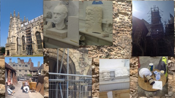 Collage: construction work