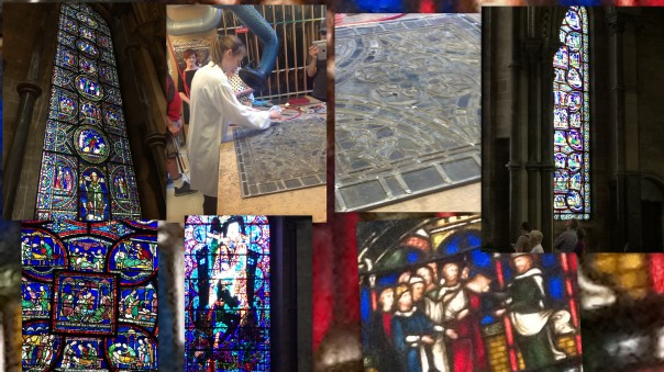 Collage: stain glass windows.