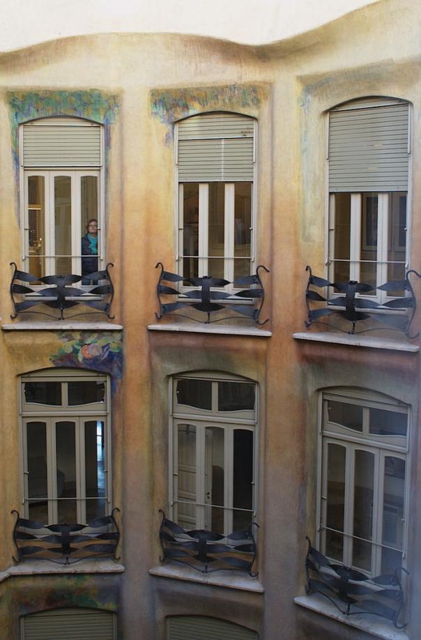Internal balconies of the La Pedrera